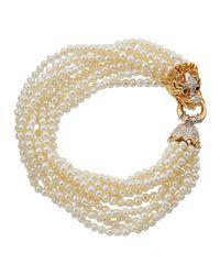 Belpearl - Metallic 14k 10-row Dragon Pearl Bracelet - Lyst