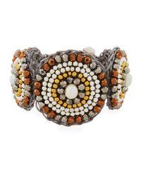 Nakamol - Metallic Pearl & Howlite Circular Bracelet - Lyst