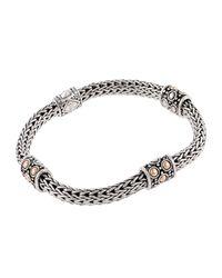 John Hardy - Metallic Jaisalmer Gold & Silver Four Station Bracelet - Lyst