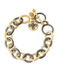 Freida Rothman - Metallic Charm Chain-link Bracelet - Lyst
