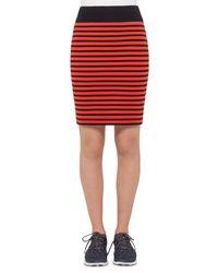 Akris Punto - Red Two-tone Striped Pencil Skirt - Lyst