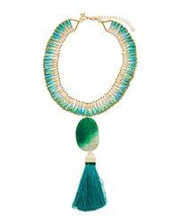 Panacea - Green Statement Pendant Collar Necklace - Lyst