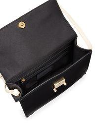 Neiman Marcus - Black Natalie Colorblock Top-handle Crossbody Bag - Lyst