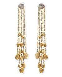 Marco Bicego | Metallic 18k Gold Diamond Siviglia Drop Earrings | Lyst
