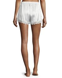 Neiman Marcus - Multicolor Lace-trimmed Silk Shorts - Lyst