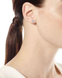 Neiman Marcus - 14k White Gold Princess-cut Diamond Stud Earrings - Lyst