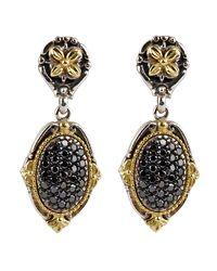 Konstantino - Asteri Pave Black Diamond Double-drop Earrings - Lyst