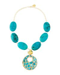 Devon Leigh | Blue Copper-infused Turquoise Pendant Necklace | Lyst