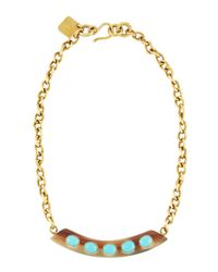 Ashley Pittman - Blue Uzio Horn & Turquoise Statement Necklace - Lyst