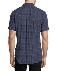 Billy Reid - Blue Clarence Plaid Cotton Shirt for Men - Lyst