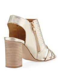 Neiman Marcus - Natural Benny Two-zip City Sandal - Lyst