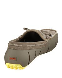 Swims - Multicolor Mesh & Rubber Braided-lace Boat Shoe for Men - Lyst