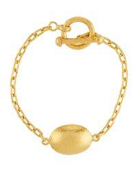 Gurhan - Metallic 24k Textured Lentil Chain Bracelet - Lyst