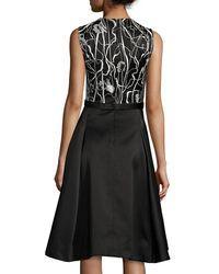 Jason Wu - Black Scribble-print A-line Combo Dress - Lyst
