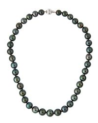 Belpearl - 14k Tahitian Black Pearl Necklace - Lyst