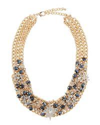 Fragments - Metallic Crystal Star Statement Necklace - Lyst