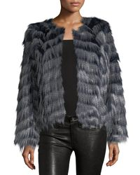 Neiman Marcus | Multicolor Shaggy Faux-fur Jacket | Lyst