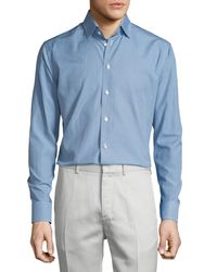 Eton of Sweden - Blue Golf-club Print Long-sleeve Sport Shirt for Men - Lyst