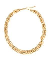 Lydell NYC - Metallic Golden Chain Collar - Lyst