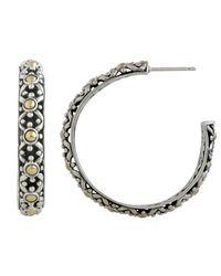 John Hardy | Metallic Jaisalmer Big Hoop Earrings | Lyst