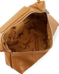 Longchamp - Brown Le Pliage Cuir Small Crossbody Bag - Lyst