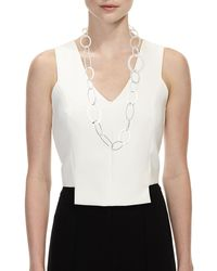 Kenneth Jay Lane - Metallic Multi-size Circle Link Necklace - Lyst
