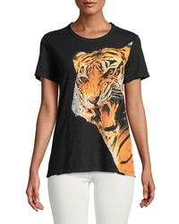 Chaser - Black Tiger Teeth Graphic T-shirt - Lyst