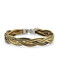 Alor | Black Braided Stainless Steel Micro-cable Bracelet | Lyst