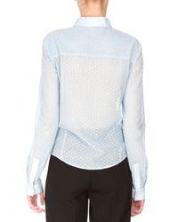 Altuzarra - Blue Nora Button-front Lace Blouse - Lyst
