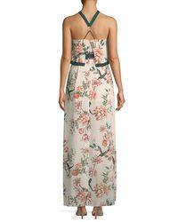 StyleStalker - Multicolor Aries Halter-neck Floral Column Dress - Lyst