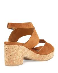 Coclico - Brown Match Low-heel Cork Sandal - Lyst