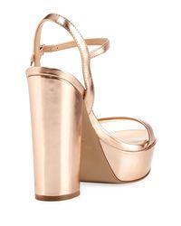 Charles David - Multicolor Regal Leather Platform Sandal - Lyst