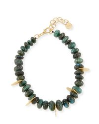 Nest - Faceted Green Labradorite Beaded Necklace - Lyst