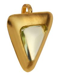 Stephanie Kantis - Green Crush Crystal Triangle Pendant - Lyst