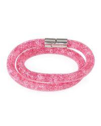 Swarovski - Pink Stardust Convertible Crystal Mesh Bracelet/choker - Lyst
