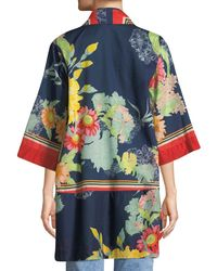Johnny Was - Red Mishka Rose Voile Kimono Cardigan - Lyst