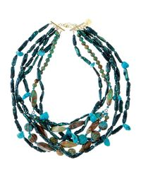 Devon Leigh - Blue Multi-strand Turquoise & Teal Pearl Necklace - Lyst