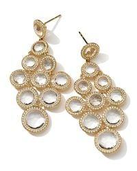 Ippolita - Metallic 18k Gold Lollipop Cascading Earrings In Clear Quartz With Diamonds 1.66ctw - Lyst