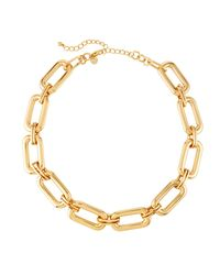 Lydell NYC - Metallic Short Link Necklace - Lyst