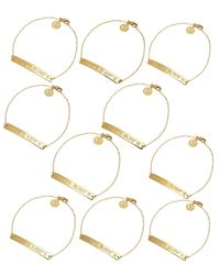 Coordinates Collection - Metallic 22k Gold-plated Nile Pendant Bracelet - Lyst