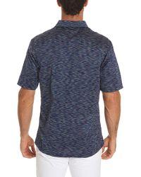 Robert Graham - Blue Raul Illusion-pattern Polo Shirt for Men - Lyst