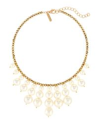 Panacea | White Crystal & Pearlescent-bead Statement Collar Necklace | Lyst