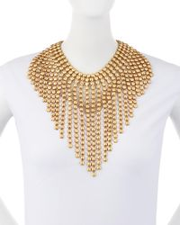 Lydell NYC - Metallic Oversized Statement Bib Necklace - Lyst