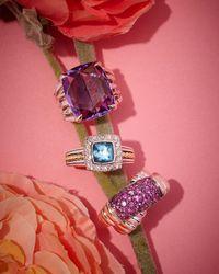 Lagos | Prism Small Blue Topaz & Diamond Ring | Lyst