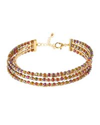 Fragments - Metallic Five-row Seed Bead Choker Necklace - Lyst