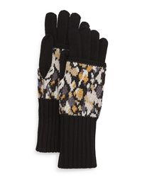 Missoni - Black Speckled Knit Gloves - Lyst