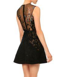 Valentino - Black Sleeveless Embellished Cocktail Dress - Lyst