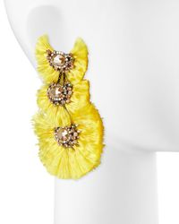Nakamol - Yellow Triple-drop Fringe Earrings - Lyst