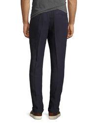 Brunello Cucinelli - Blue Linen Basic Trouser Pants for Men - Lyst