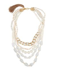 Lydell NYC - Multicolor Five-row Statement Beaded Necklace - Lyst